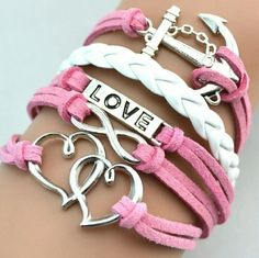 Love Bracelet Faux leather strands. Brand new in package. NO TRADES. PRICE FIRM UNLESS BUNDLED. Jewelry Bracelets