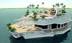 The $6 Million Man-Made Floating Island   See More Pictures   #SeeMorePictures