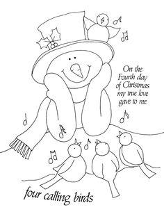Free Dearie Dolls Digi Stamps Christmas In July Snowman Birdie And Berries