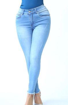 Ref: 411-2  JEAN OCHENTERO 1 BOTON  (Stone Claro) Back Brace Scoliosis, Braces, Skinny Jeans, Pants, Collection, Fashion, Buttons, Trends, Women