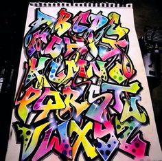 Graffiti Alphabet Styles, Graffiti Lettering Alphabet, Graffiti Piece, Graffiti Wall Art, Tattoo Lettering Fonts, Graffiti Tagging, Graffiti Characters, Graffiti Drawing, Graffiti Styles