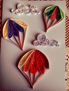 https://flic.kr/p/wR5EMY | Quilling hot air balloons | Quilled flying hot air balloons + clouds. (handmade)