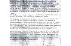 Uno dei messaggi ritrovati nel covo di Provenzano.