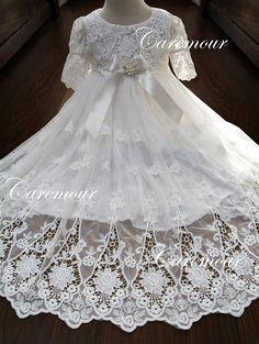 Christening Gown Baptism Dress Baptism Dress for baby