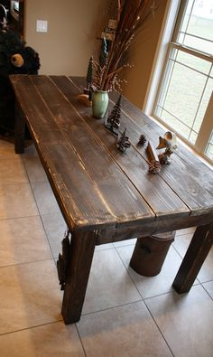 Large Primitive Lakeside Rustic Cabin Farm House 7-FT Kitchen FARM HOUSE Table Custom Sizes Colors Avail on Etsy, $400.00