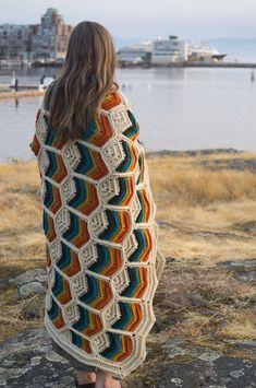Grandmother's Flower Garden Crochet Blanket Free Pattern