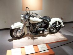 "A 1955 Haley Davidson 165 from the ""Harley Heaven"" exhibition at the Evansville Museum in 2006."