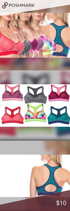 Racerback Sports Bras Stretch fabric and padded design provides a supportive fit that's great for exercise. Youmita Intimates & Sleepwear Bras