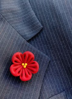 Lapel Pins Mens Lapel Pin Flower Lapel Pin Red Lapel Flower   Etsy