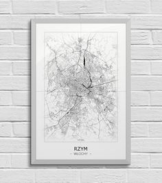 Plakat - mapa - Rzym  Gdzie kupić? www.eplakaty.pl