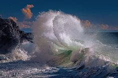 High tide: These incredible shots show waves precisely at their breaking point, displaying what appears to be a crystal-like blanket of wate...