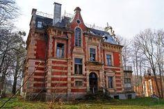 Abandoned villa, Gdansk, Pomorskie province, Poland.
