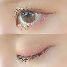 Cute simple eye makeup 🌸