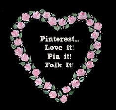 Folk It loves Pinterest! We have great boards full of inspiration, how to's and tutorials. Love It, pin it, Folk It!
