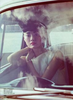 50s inspired styling in the Lincoln Pilcher editorial for Vogue China (March 2012)