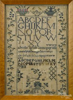 sampler, early 19th century, Pook & Pook