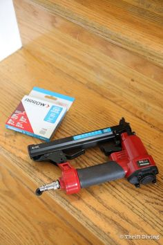 """Use an Arrow Fastener PT50 pneumatic stapler for installing a stair runner, with 3/8"""" or 1/2"""" staples - Thrift Diving Staircase Landing, Stairs And Staircase, Carpet Stairs, Staircase Design, Spiral Staircases, Stair Runner Installation, Narrow Hallway Decorating, Staircase Makeover, Modern Stairs"""