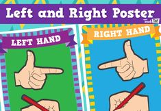 Left & Right Poster - Pencil Grip & Direction