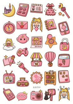 home Art Fun - Japan Anime Sailor Moon Pink Deco Seal Stickers Fun Life Home Deco Serious Stickers Kawaii, Anime Stickers, Tumblr Stickers, Cool Stickers, Decorative Stickers, Journal Stickers, Scrapbook Stickers, Diy Scrapbook, Planner Stickers