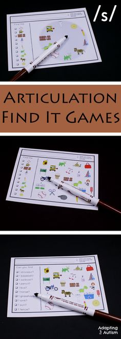 Articulation games for an easy no prep activity to add fun to your speech therapy.  Practice producing the /s/ sound in all three positions with three levels of difficulty.  Can also be used as a work task in your special education classroom!
