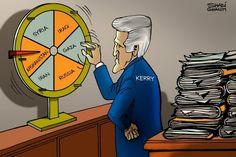 Today's #cartoon by Shadi Ghanim  #Caricature #Politics #News #TheNational #world #Iran #Kerry #US #USA
