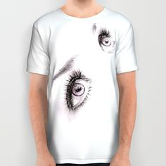 #alloverprint #tshirt #clothing #eyes #minimalist