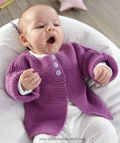 Baby Knitting Patterns Baby Jacke aus Bravo Baby 135 Baby Smiles Merino Mix oder Ba...