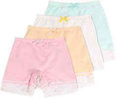 CHUNG Toddler Little Big Girls Dance Bike Play Shorts Under Dress Skirt School Uniform Underpants 4 Pack 2-9Y