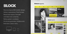 Download and review of Block Magazine - Flat and Minimalist Blog Theme, one of the best Themeforest Magazine & Blogs themes
