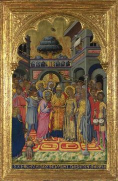 Niccolò di Buonaccorso, The Marriage of the Virgin, about 1380, National Gallery, London