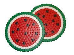 Untersetzer Wassermelon - hama beads