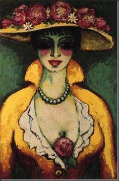 """Naine lilleise mütsiga"" - Kees van Dongen (hollandi), 1915 - 18 / ""Woman with Flowered Hat"" - Kees van Dongen (dutch), 1915 - 18"
