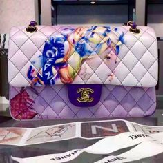 Limited edition luxury Chanel Chanel Limited edition hand painted Lady lambskin 2.55. Beyond Words! Can't describe the captivated beauty in this bag! Speechless. For more info email me or msg me Just wanted to share CHANEL Bags Shoulder Bags