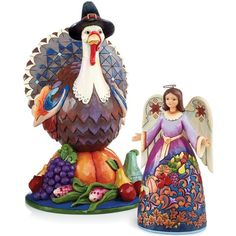 Jim Shore Thanksgiving Collectible Figurines Collection ❤ liked on Polyvore featuring home, home decor, autumn home decor, jim shore, jim shore figurines, turkish home decor and fall home decor