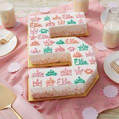 Gekrönt in Glory Princess Cake - Cake Decorating Dıy Ideen Number Birthday Cakes, Make Birthday Cake, Number Cakes, 5th Birthday, Wilton Cakes, Tea Cakes, Mini Cakes, Cupcake Cakes, Bakken