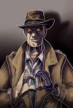 Nick Valentine by FuckingKilari-chan Fallout 4 Nick Valentine, Fallout 4 Hancock, Fall Out 4, Paladin, Post Apocalyptic, Fun Games, Video Games, Boss, Gaming