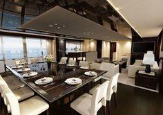 Yacht dining suite - Luxury Yacht Interior Design