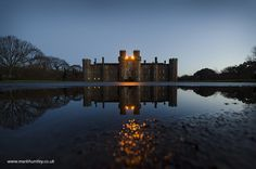 Symmetrical and reflective early morning shot taken at #Herstmonceax #Castle, East Sussex, UK by Mark Huntley www.markhuntley.co.uk