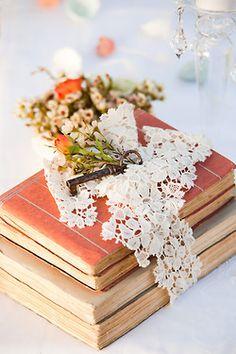 dyingofcute:    literary wedding decor