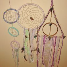 All three of the dream catchers I've made so far together! -KJH