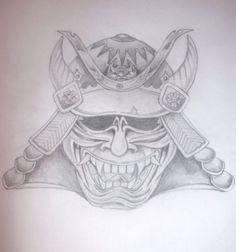 Hanya Samurai Mask Tattoo By Drewcarcrazy