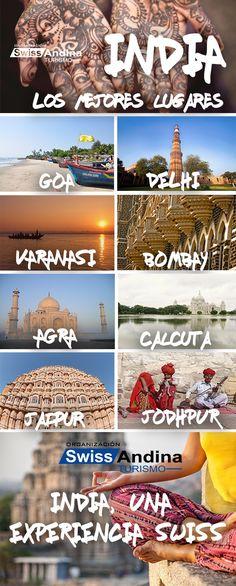 La India es uno de los destinos más cautivantes del mundo, sus culturas, colores, e historia te cautivarán. La india está dividida por regiones: el norte, el sur, el este, el oeste y las regiones centrales. Cada una de estas regiones tiene lugares que descubrir, aquí tienes algunos lugares que no puedes dejar de visitar.