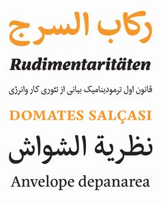 Rosetta Type: Eskorte - A hardworking Latin-Arabic type family with an uncomplicated, regular appearance that conveys a crisp, businesslike tone. #fonts #design#graphicdesign