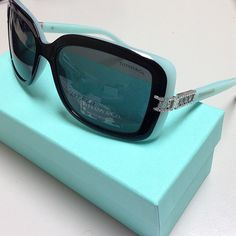 New for 2013 - Tiffany  Co. Eyeglasses and Sunglasses. This is TF 4025b color 8055/3f black blue