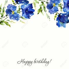 Resultado de imagem para watercolor blue floral vector