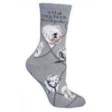 Old English Sheepdog Dog Breed Novelty Socks Gray Grey Dog, Gray, Cockapoo Dog, Grey Socks, Dog Socks, Lounge, Old English Sheepdog, Novelty Socks, Grey Pattern