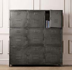 Vintage Locker 9-Door Cabinet | Bookcases & Storage | Restoration Hardware Baby & Child