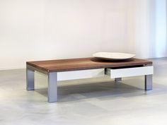 Salontafel Sur le Pont met laden - Case designmeubelen uit eigen meubelmakerij - Kees Verhouden Meubelen