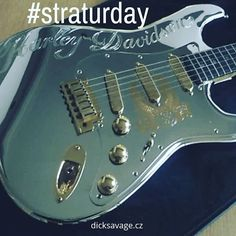 Happy Straturday with this incredible chrome Harley Davidson Stratocaster by Fender. . #fender #stratocaster #harleydavidson #straturday #chrome #electricguitar #guitar #incredible #happystraturday