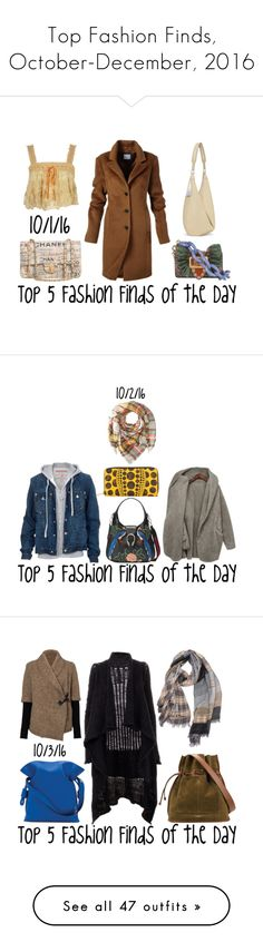 """Top Fashion Finds, October-December, 2016"" by maggie-johnston ❤ liked on Polyvore featuring Chanel, The Row, Burberry, Gucci, My Mum Made It, Louis Vuitton, Hat Attack, True Religion, BB Dakota and Rick Owens"